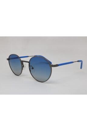 Retro Unısex Mavi Güneş Gözlüğü Junıor-0015-5-44