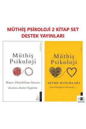 Destek Yayınları Müthiş Psikoloji 2 Kitap Set Hayır Diyebilme Sanatı Sevme Kusurları