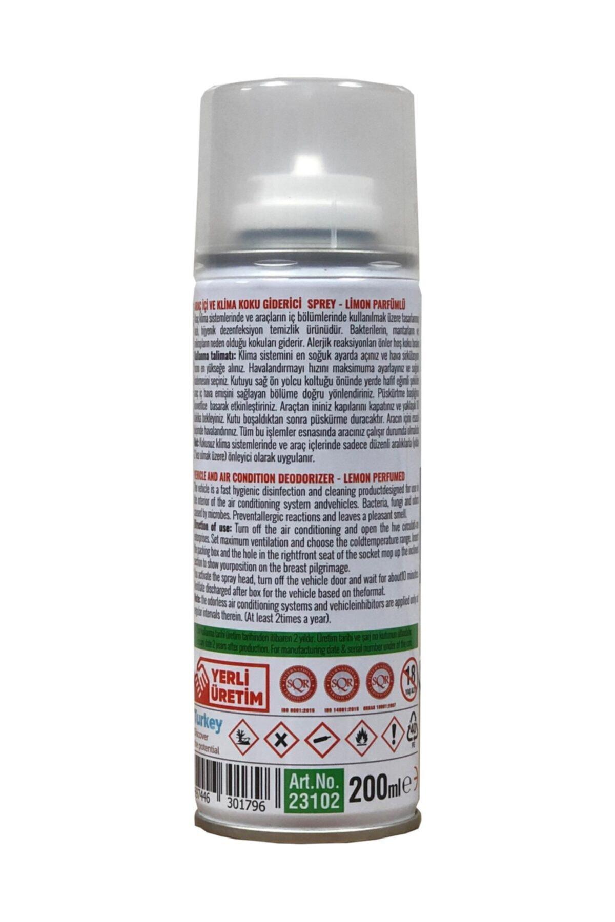 MxS Araç Içi Oto Klima Koku Giderici Fresh Bomba Limon 200 ml 2