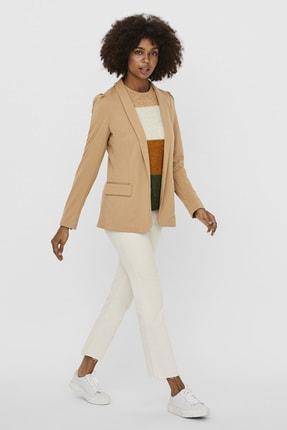 Vero Moda Kadın Ten Rengi Omuz Detaylı Blazer Ceket 10237127 VMESTELLE