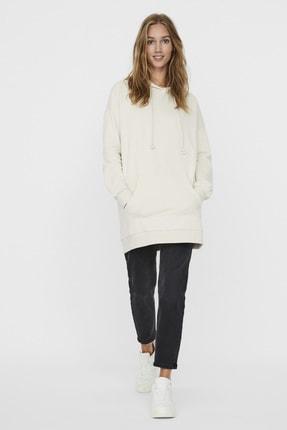 Vero Moda Kadın Ekru Kapüşonlu Oversize Sweatshirt 10235452 VMMARISA
