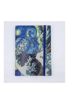 Köstebek Art - Starry Night & The Great Wave Defter