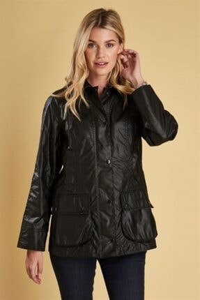 Barbour Kadın Siyah Beadnell Wax Ceket Bk11