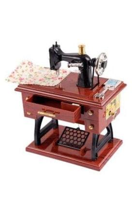 İlgimi Çekiyor Kahverengi Müzik Kutusu Dikiş Makinesi