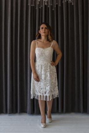 Atelier Masal Kadın Beyaz Gelinlik & Evden Çıkış Elbisesi