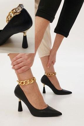 Marjin Siyah Nazita Topuklu Ayakkabı