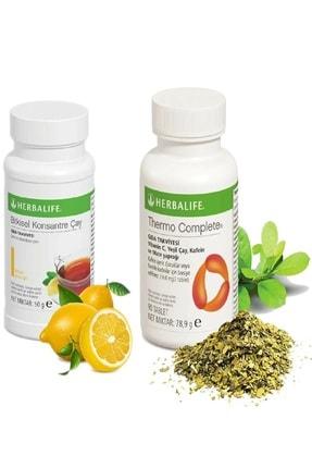 Herbalife Set Mini Limon Aromalı 50 gr Çay Thermo Complete