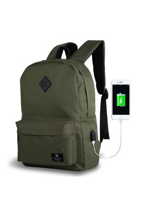 My Valice Smart Bag Specta Usb Şarj Girişli Akıllı Sırt Çantası Haki /