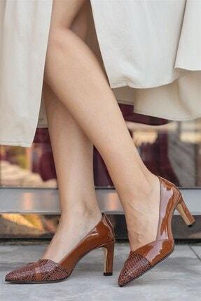 Mio Gusto Kate Taba Yılan Topuklu Ayakkabı