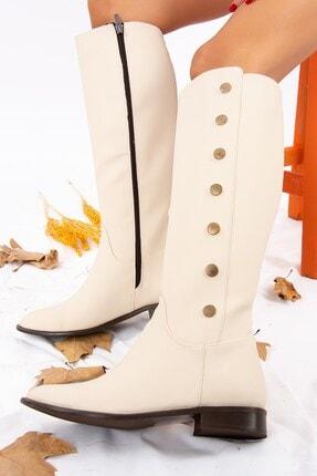 Fox Shoes Bej Kadın Çizme J654013809