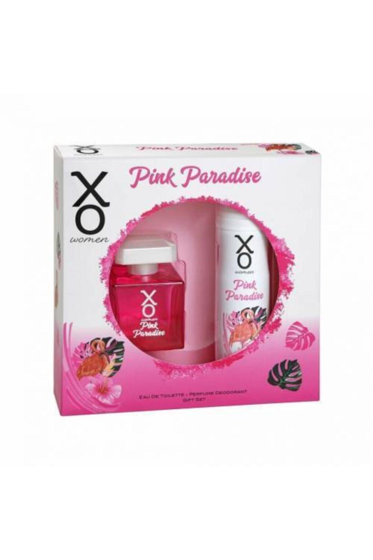 Xo Pink Paradise Eau De Toılette 100ml Kadın Parfüm 125 ml Deodorant 1