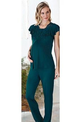 Fc Fantasy Kadın Yeşil Lohusa Pijama Takımı 1157