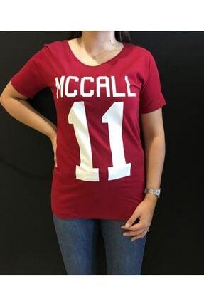 Panda Kadın Vişne Mcall 11 Baskılı T-shirt