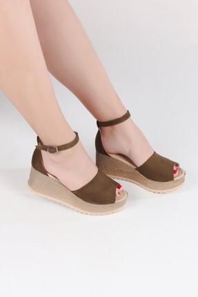 Lanina Kadın Haki Dolgu Topuk Sandalet