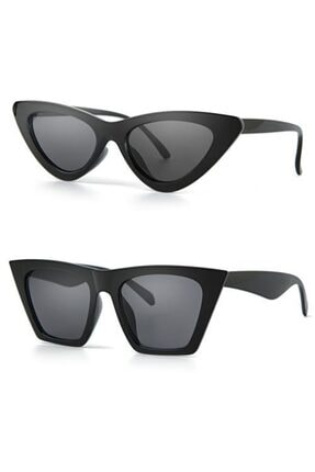 Polo55 Cat Model 2'li Fashion Siyah Kadın Güneş Gözlüğü Kombini