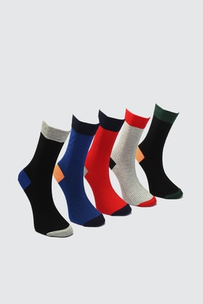 TRENDYOL MAN Çok Renkli Erkek 5'li Soket Çorap TMNAW21CO0072