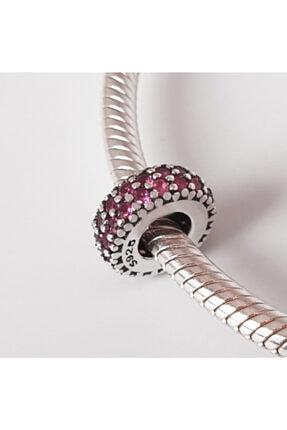 Triaboz Kadın Gümüş Pandora Bileklik Uyumlu Spacer Aralayıcı Charm