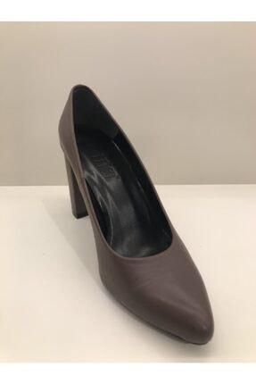 İnci Kadın Vizon Kalın Topuklu Ayakkabı