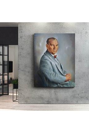 CANVASUM Atatürk Yan Portre Kanvas Tablo