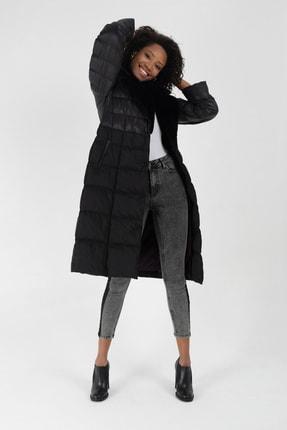 Icon Kadın Siyah Şişme Mont Kışlık 5530 Bb