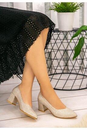 Erbilden Kadın Vizon Simli  Tammy Topuklu Ayakkabı