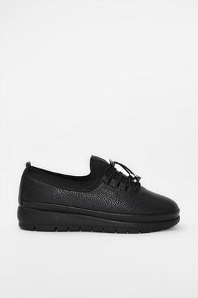 Yaya  by Hotiç Siyah Kadın Loafer Ayakkabı 01AYY188130A100