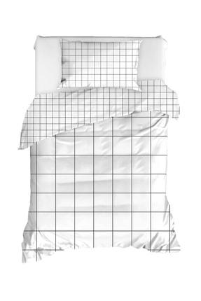 Enlora Home Enlora %100 Doğal Pamuk Nevresim Seti Tek Kişilik Grandes Beyaz