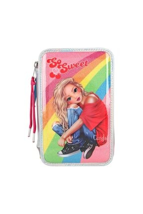Top Model Filled Triple Pencil Case Cherry Bomb Holo 3 Katlı Dolu Kalem Kutu