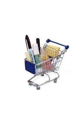 Bifirsat Alışveriş Arabası Kalemlik Masaüstü Düzenleyici Alışveriş Sepeti
