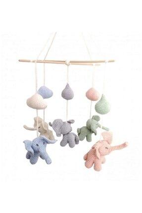 Pacco Baby El Örgüsü Organik Pamuk Fil Dönence