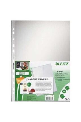Leitz - Poşet Dosya A4 11 Delikli (100 Adet) - 479610 - Buzlu