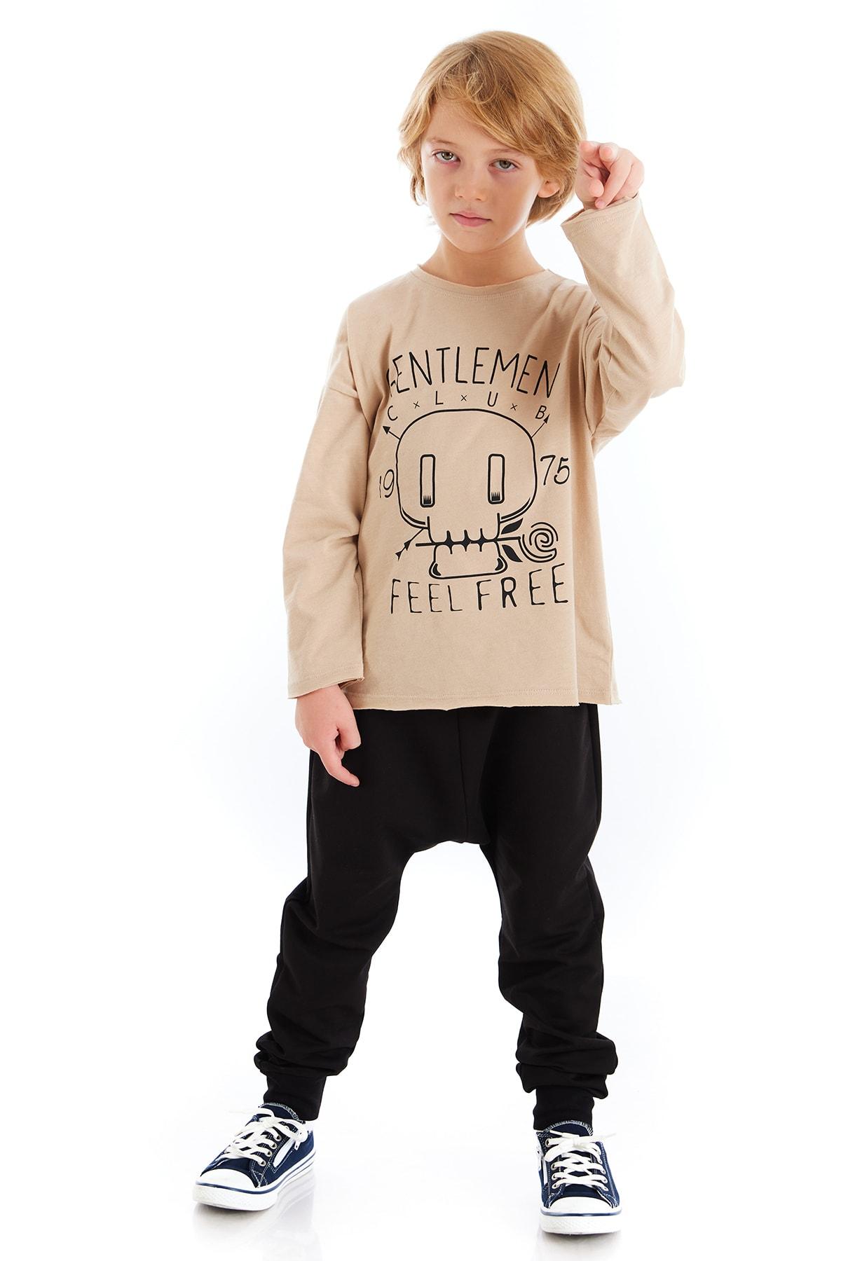 Colorinas Unisex Çocuk Taş Rengi Sweatshirt 2