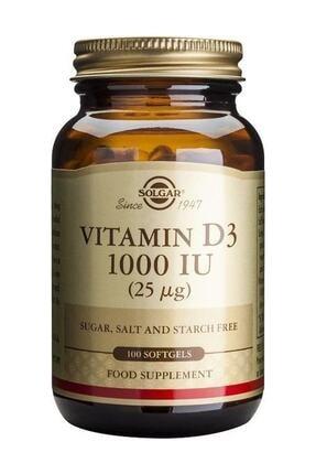 Solgar Vitamin D3 1000 Iu 100 Softjel