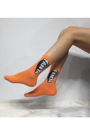 ADEL ÇORAP Unisex Turuncu Soket Çorap
