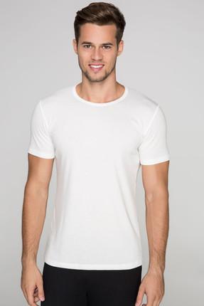 D'S Damat Erkek Ekru İç Giyim T-shirt  Ds 06000 002.1