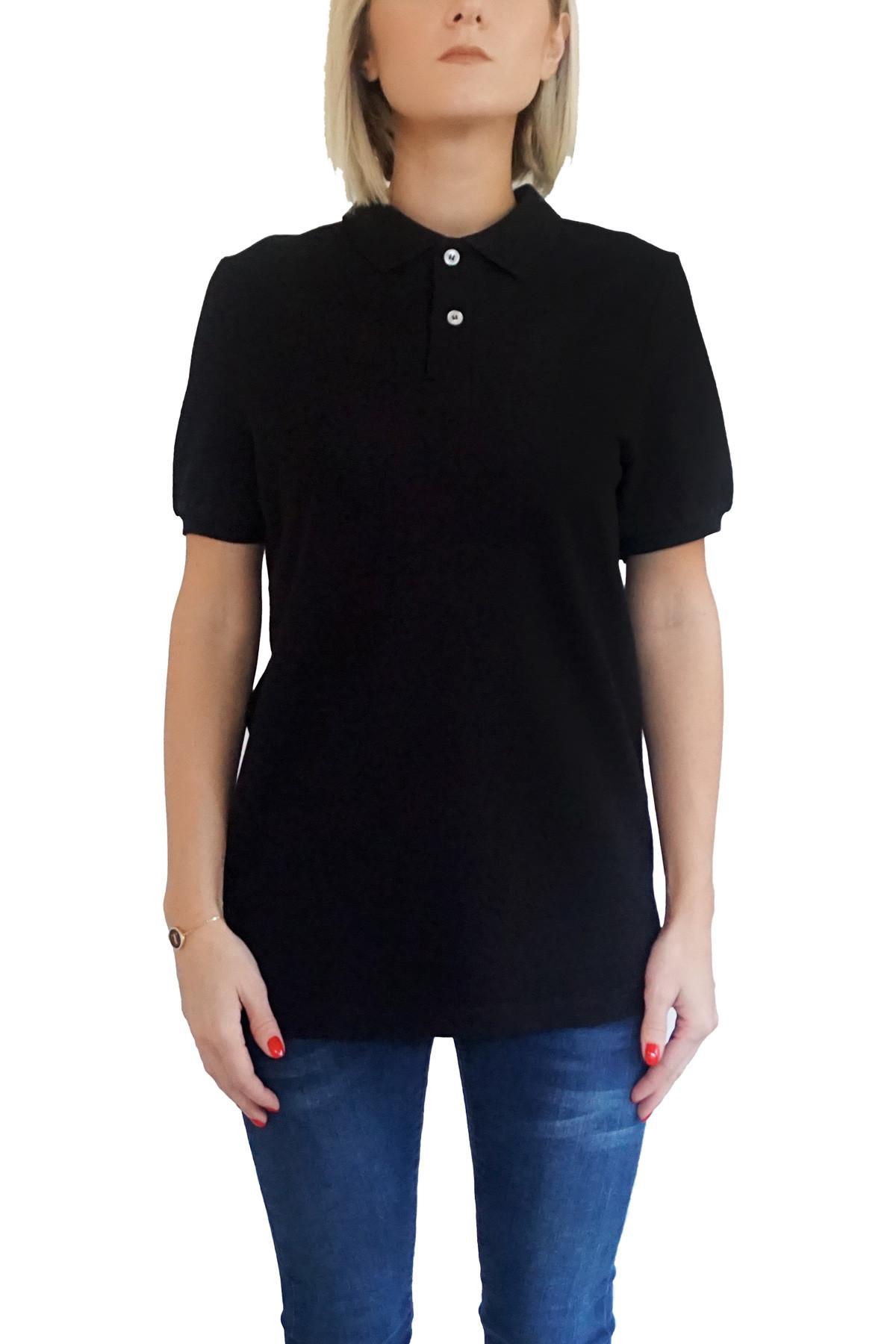 MOF Kadın Siyah T-Shirt POLO-F-S 1