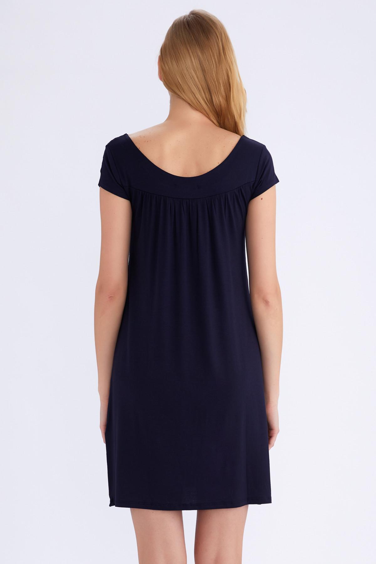 AYYILDIZ Kadın Lacivert Düz Elbise 59333 2