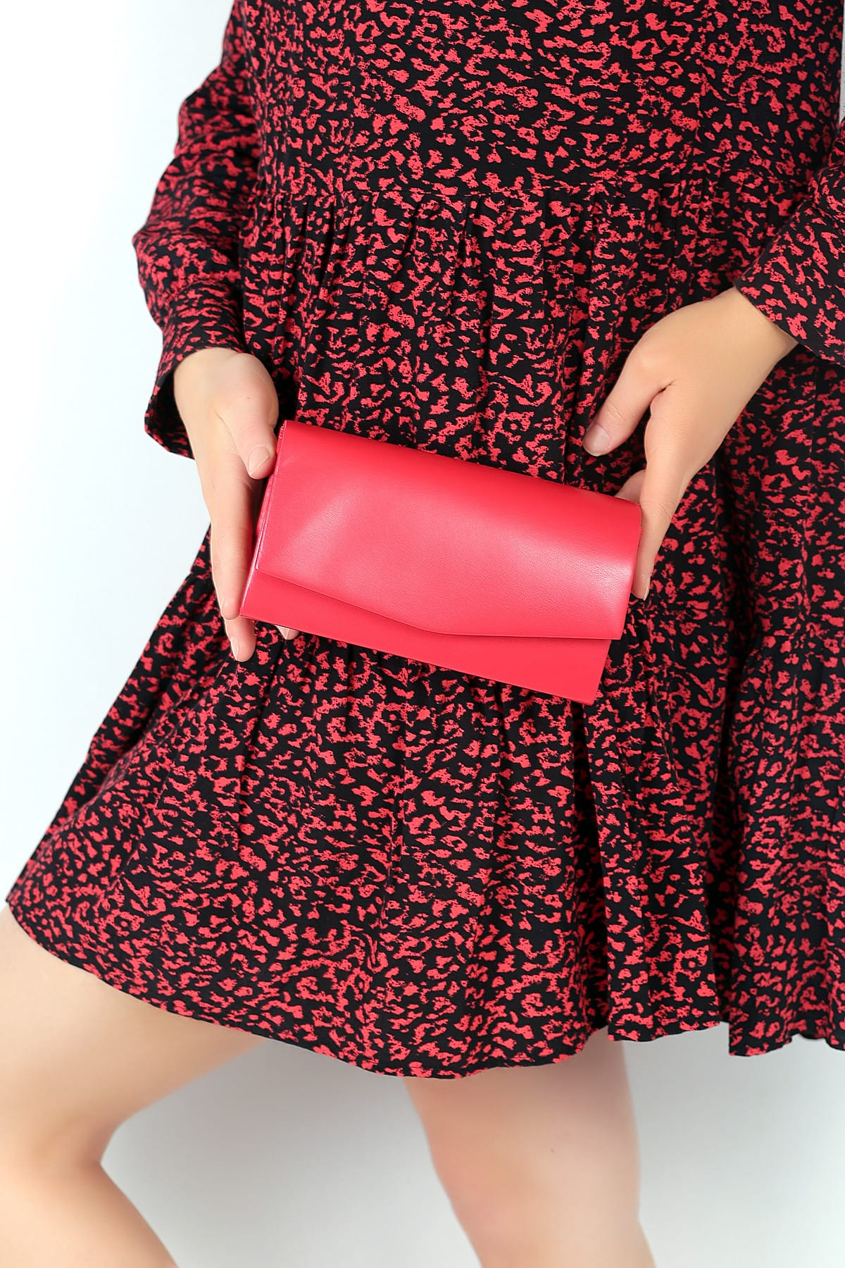 WMİLANO Kırmızı Cilt Kadın El Çantası C0201-18 2