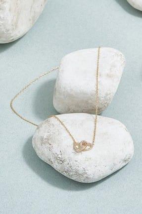 ZİNDİ Kadın Kalplitaşlı Zincir Kolye Altın Rengi K-3051010-415
