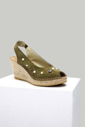 Derimod Hakiki Deri Haki Kadın Sandalet 18SFD106810