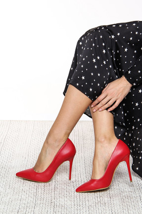 Shoes Time Kırmızı Kadın Topuklu Ayakkabı 18Y 708
