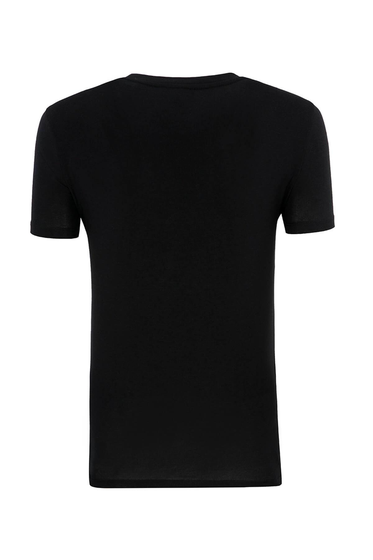 Emporio Armani Siyah Kadın T-Shirt 2