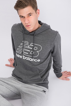New Balance Erkek Sweatshirt - V-MTH809-CHC