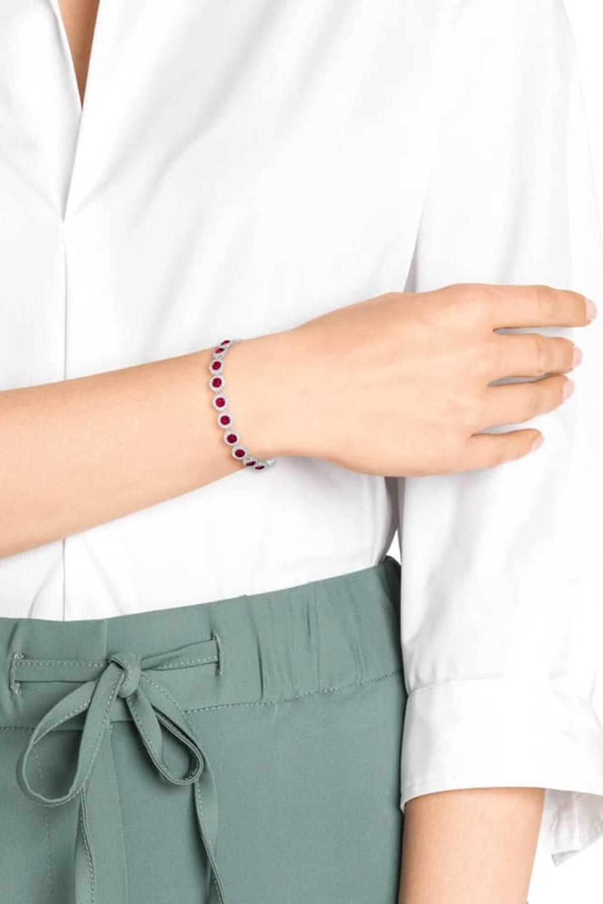 Swarovski Kadın Bilezik Angelic:Bracelet Rby/Cry/Rhs M 5446006 1
