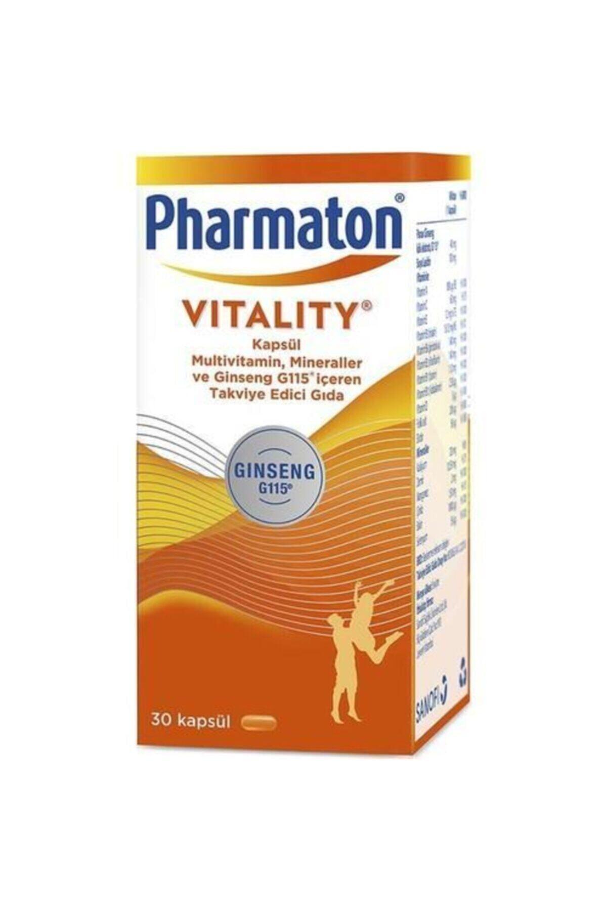 Pharmaton Vitality Multivitamin Mineraller ve Ginseng G115 İçeren Takviye Edici Gıda 30 Kapsül 1
