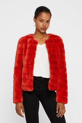 Vero Moda Kadın Kırmızı Mont 10198764
