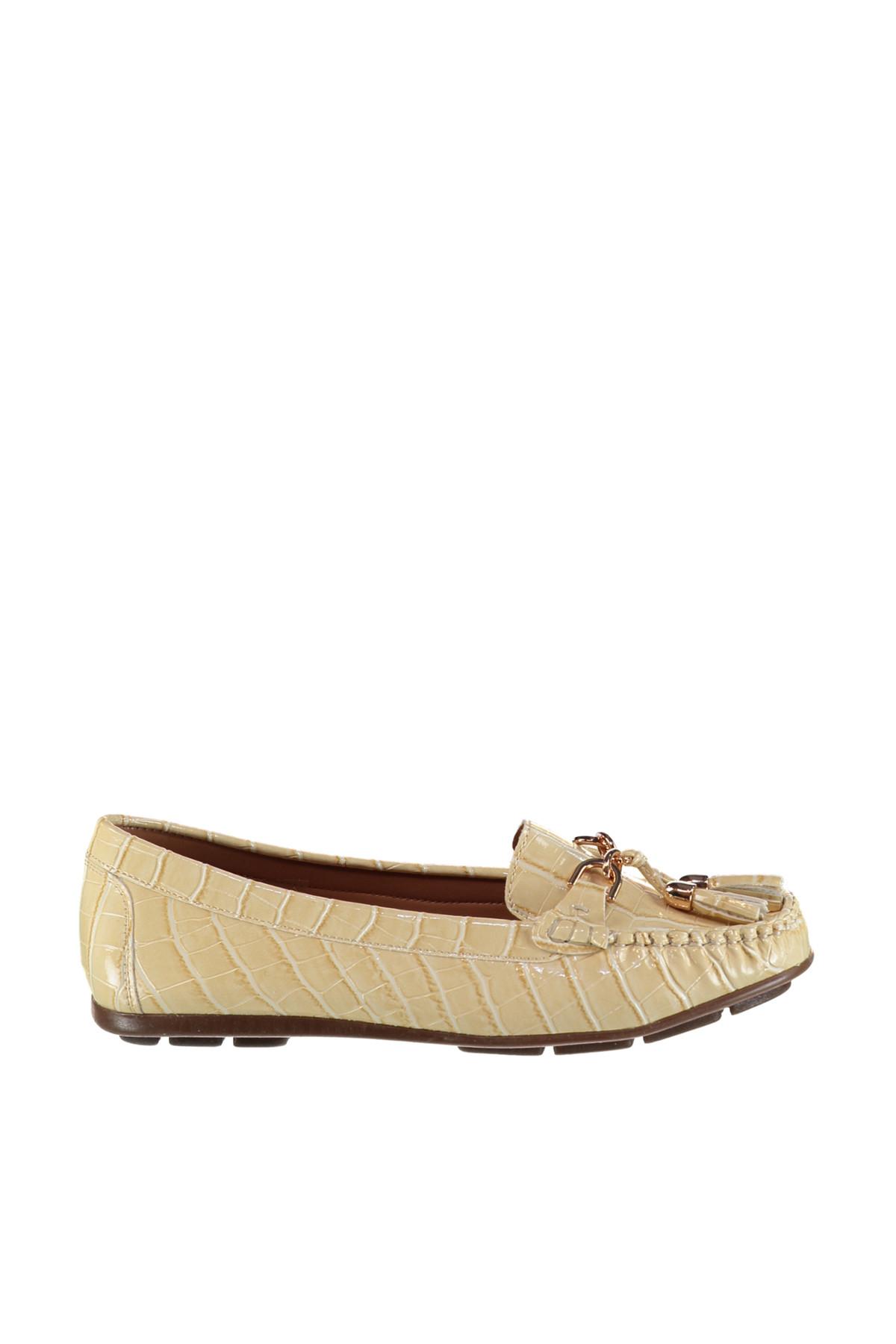 Derimod Bej Kadın Loafer Ayakkabı 2