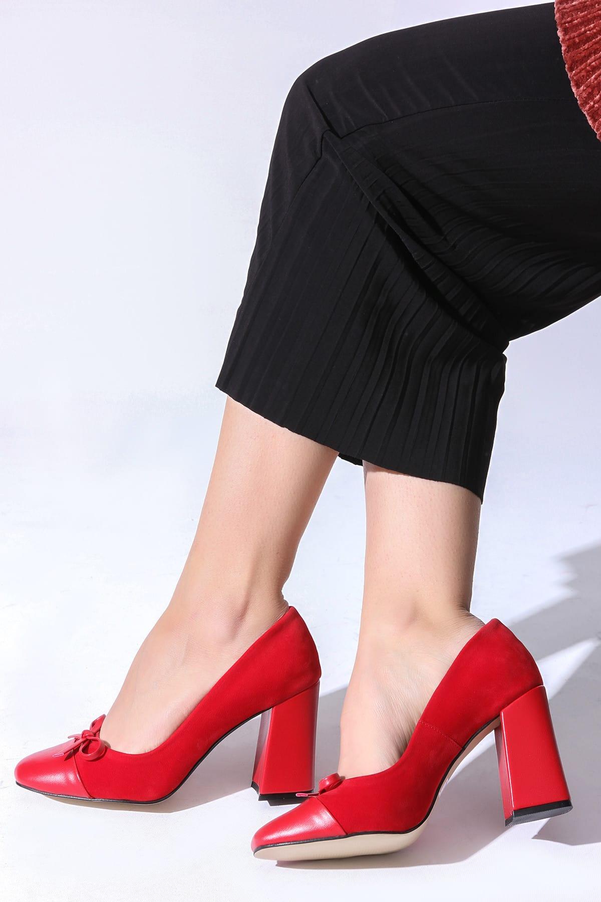ROVIGO Kırmızı Kadın Topuklu Ayakkabı 11112014187-1-01 1