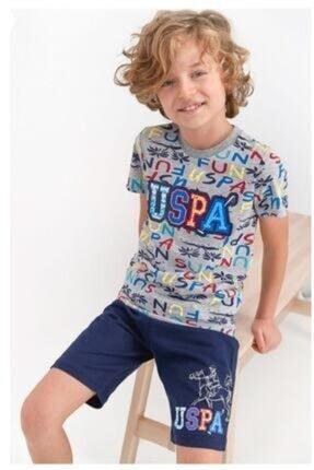U.S. Polo Assn. Erkek Çocuk Gri Melanj Takım 802-g