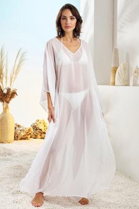 Pierre Cardin Kadın  Beyaz Uzun Tunik Pareo 211807